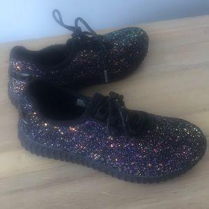 Never Worn!    Glitter sneakers